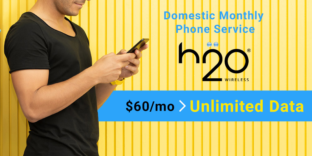 """Domestic Monthly Phone Service """"h2o Wireless Japan"""