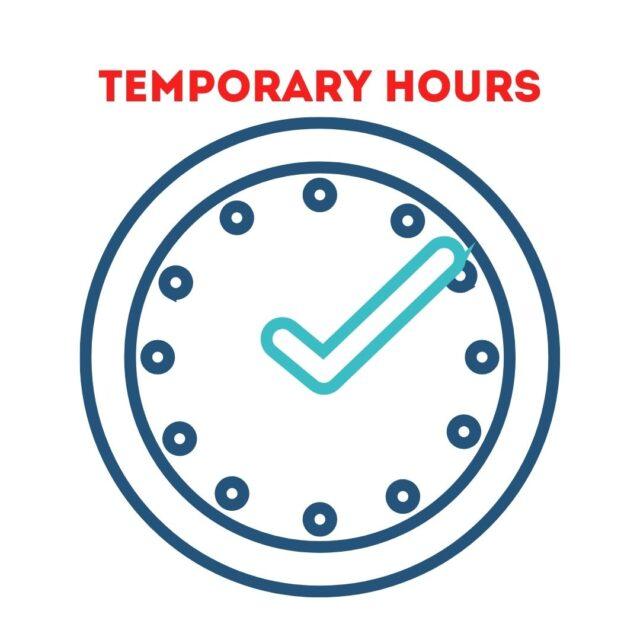 temporary business hours