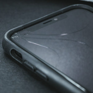 cracked smartphone